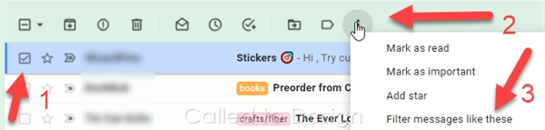 Create a filter from the inbox